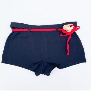 Burberry   High Waist Boy Short Bikini Bottoms - S